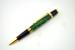 Gold Mesa Style Pen w/Green Box Elder Burl Body