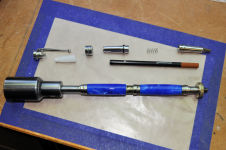 Americana Rollerball Pen w/ Sapphire Blue Silk Acrylic Body - Finished Pen Ready for Assembly